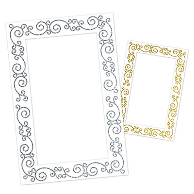 Glittered Photo Fun Frame Party Accessory
