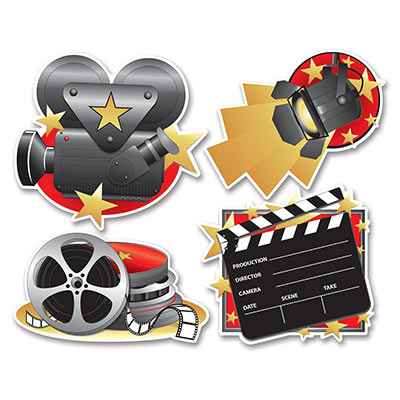 Movie Set Cutouts Party Accessory