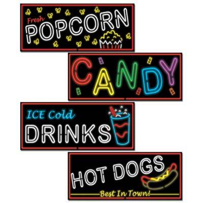 Neon Food Sign Cutouts Awards Night