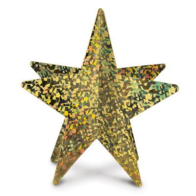 3-D Prismatic Star Centerpiece Awards Night