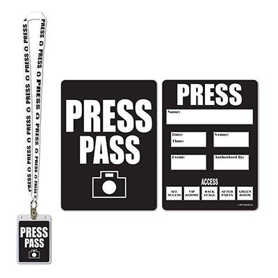 Press Party Pass Awards Night Accessory