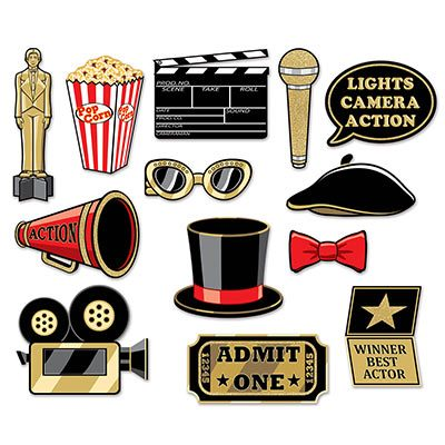 Awards Night Glittered Photo Fun Signs