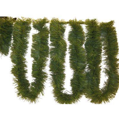 12' Green Vinyl Pine Roping Garland