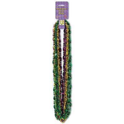 Mardi Gras Swirl Beads