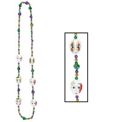 Mardi Gras Mime Beads