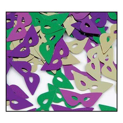 Fanci-Fetti Mardi Gras Mask Confetti