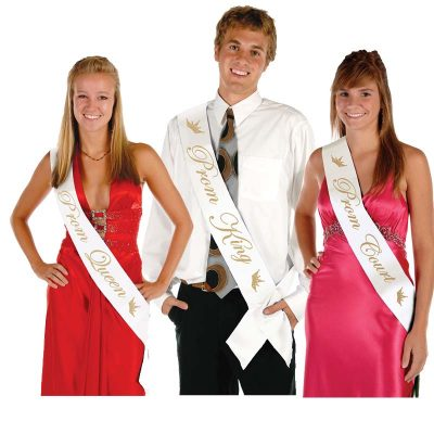 Prom King Queen and Court Sashes