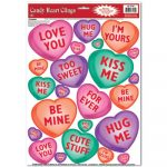 Candy Heart Clings