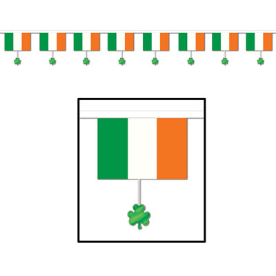 Flags and Shamrocks Pennant Banner