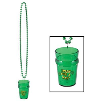 Beads with St. Patricks Glass