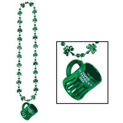 Shamrock Beads with Happy St Pats Mug
