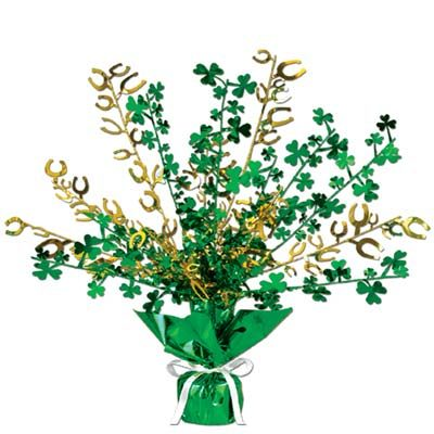 Shamrock and Horseshoe Centerpiece