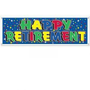 Happy Retirement Sign Banner