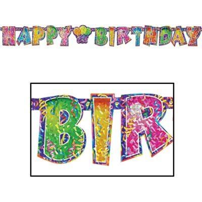 Prismatic Happy Birthday Streamer