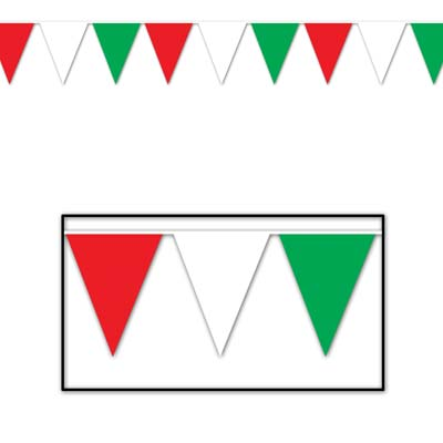 Red White Green Pennant Banner