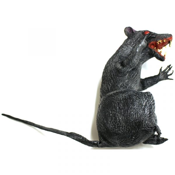 "10"" Squishy Gothic Rat Halloween Decoration"