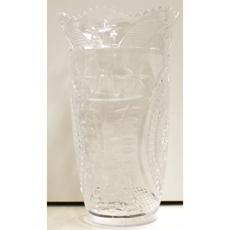 Buy Crystal Cut Plastic Flower Vase Cappels Costumes And Party