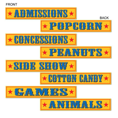 Circus Sign Cutouts