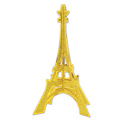 3 D Glittered Eiffel Tower Centerpiece