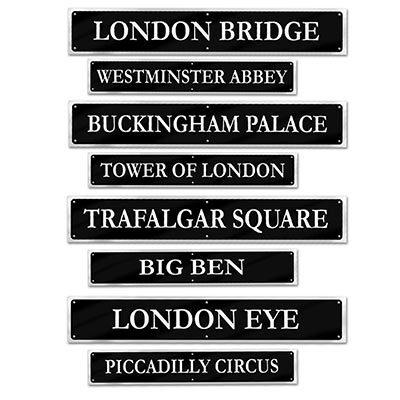 British Street Sign Cutouts