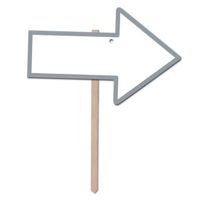 Blank Arrow Yard Sign