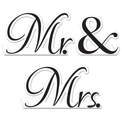 Table Cards Mr & Mrs