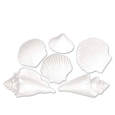 White Plastic Seashells