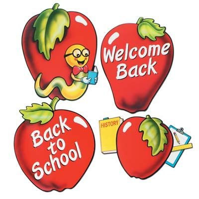 School Days Apple Cutouts