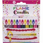 Matching Flame Slimline Candles