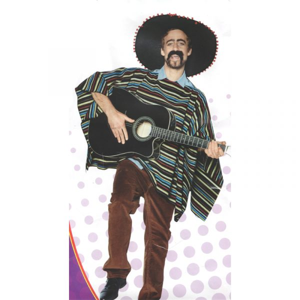 Adult Mexican Poncho Sombrero Combination Set