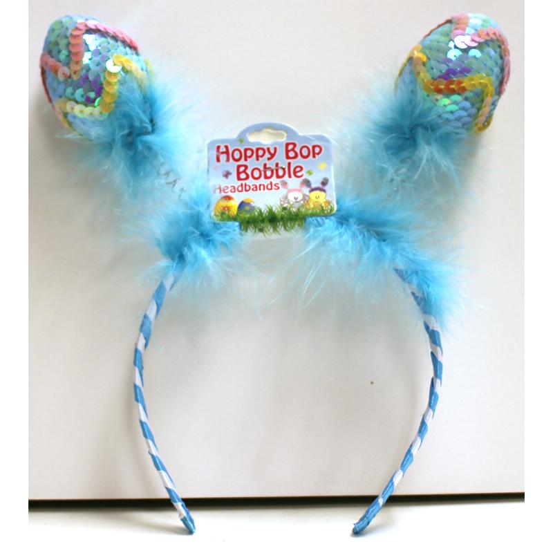 Sequin Easter Eggs Bobble Headband