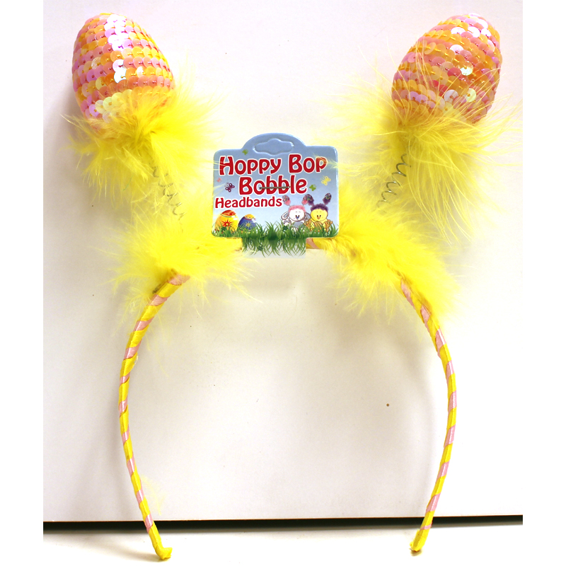 Sequin Easter Eggs Bobble Headband