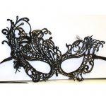 Black Lace Fabric Flared Design