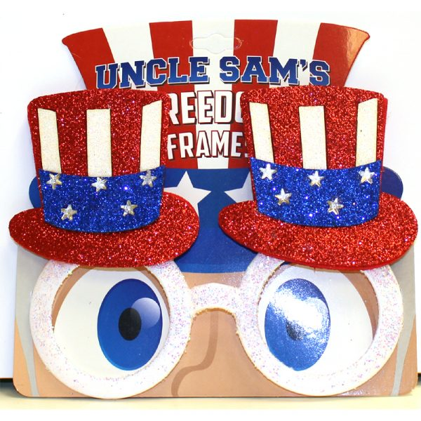 USA Glittered Patriotic Eyeglasses