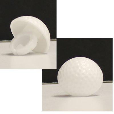 White Plastic 3-D Golf Ball Ring