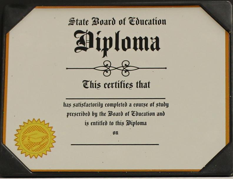 Flat Plastic Diploma