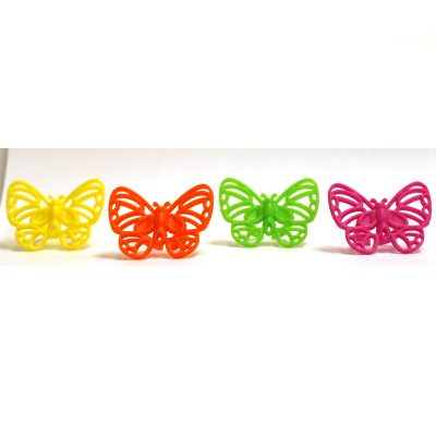 Plastic Neon Butterfly Ring