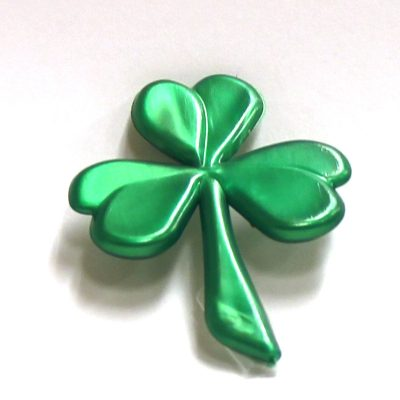 2 Inch Pearlized Green Plastic Shamrock Pick
