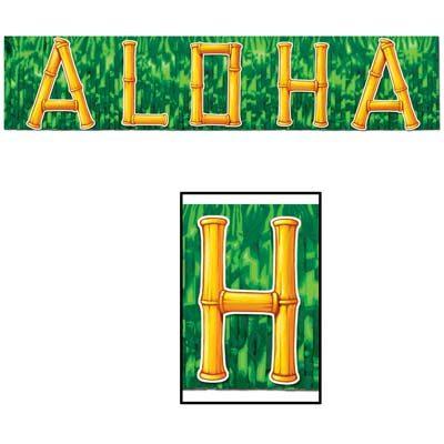 Metallic Aloha Banner