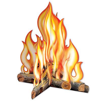 3 D Campfire Centerpiece