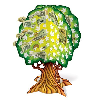 3 D Wedding Anniversary Money Tree
