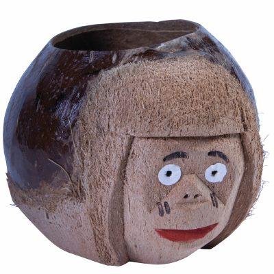 Natural Coconut Monkey Drink Holder