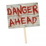 Plastic Danger Ahead Yard Sign