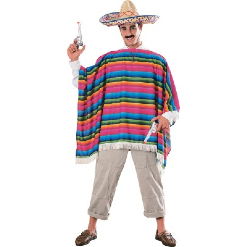 Mexican serape and sombrero