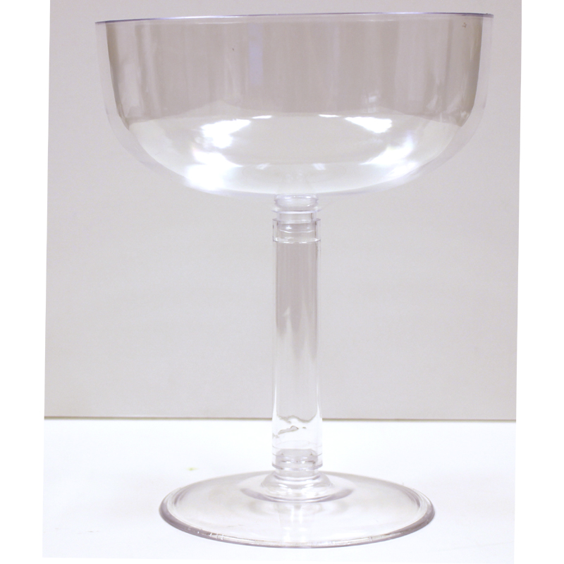 9 Inch Clear Plastic Champagne Glass
