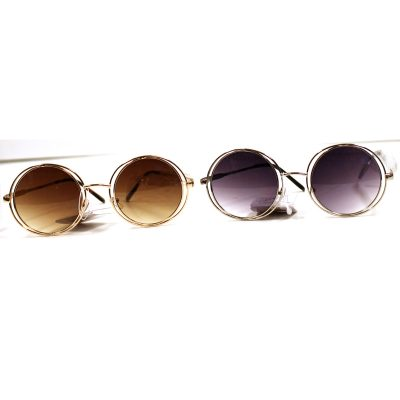 Duo Metal Round Frame Sunglasses