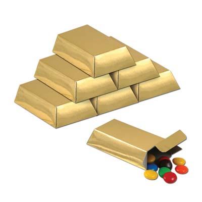 Foil Gold Bar Favor Boxes