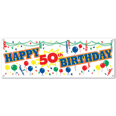 Happy Birthday Sign Banner Age Specific