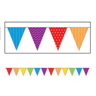 Dots and Stripes Pennant Banner