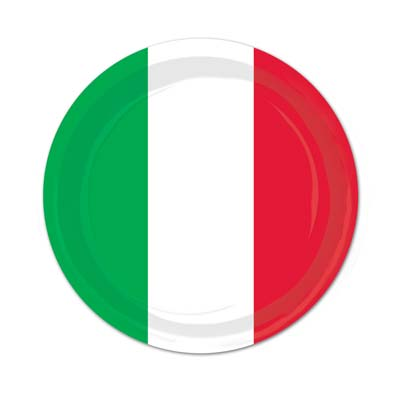 Red White Green Plates and Napkins
